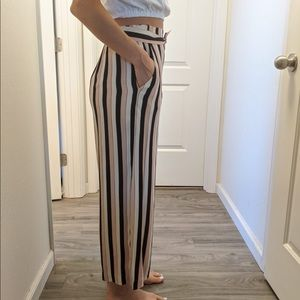 Wilfred Pants - Aritzia Wilfred striped pants